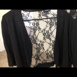 Lace coverup jacket